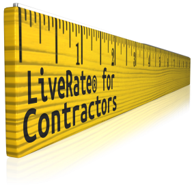 measure the cost with LiveRate for Contractors